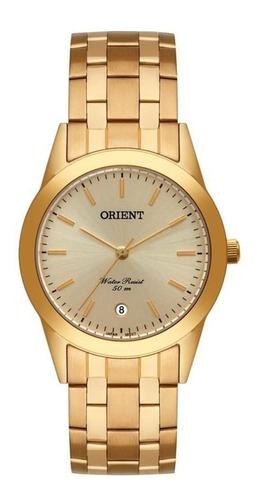 Relógio Orient Masculino Mgss1179 C1kx Clássico Dourado