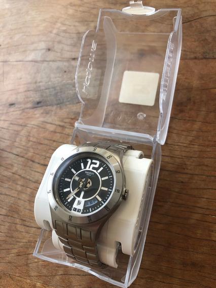 Relógio Swatch Metal Aço Inox Social Novo Usei Só 4 Vezes