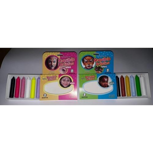 Crayones Para Cara X6 Para Nena O Varon(varian Los Colores)