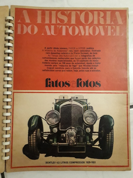 Encarte Fatos E Fotos A História Do Automóvel Ford Bugatti