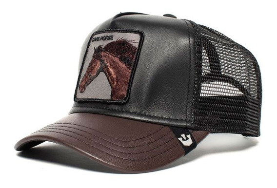 Gorras Cuero Goorin Bros Baseball Your Majesty Dark Horse