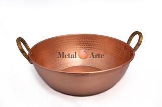 Tacho De Cobre 10 L + Par De Concha M De Cobre Metal Arte