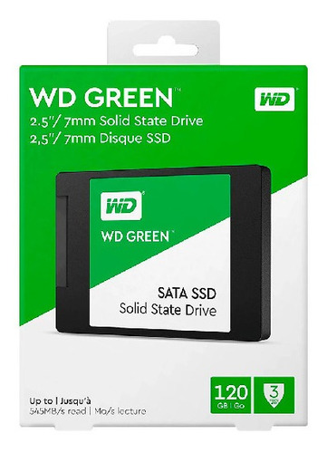 Wd Ssd Green 120gb 2.5 Int Sata 3d