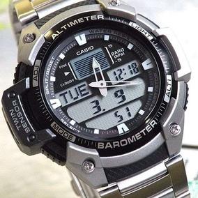 Relógio Casio Outgear Masculino Anadigi Aço Sgw-400hd-1bvdr