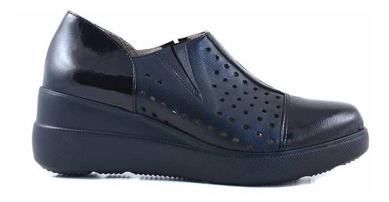 Zapatilla Zapato Mujer Cuero Briganti Confort - Mczp05254 Vh