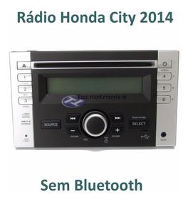 Auto Rádio Honda City 2014 Original Clarion Prata