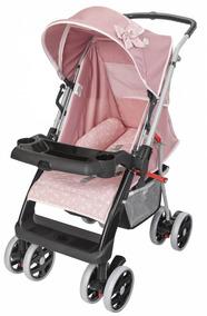 Carrinho De Bebê Thor Plus Tutti Baby Rosa Coroa