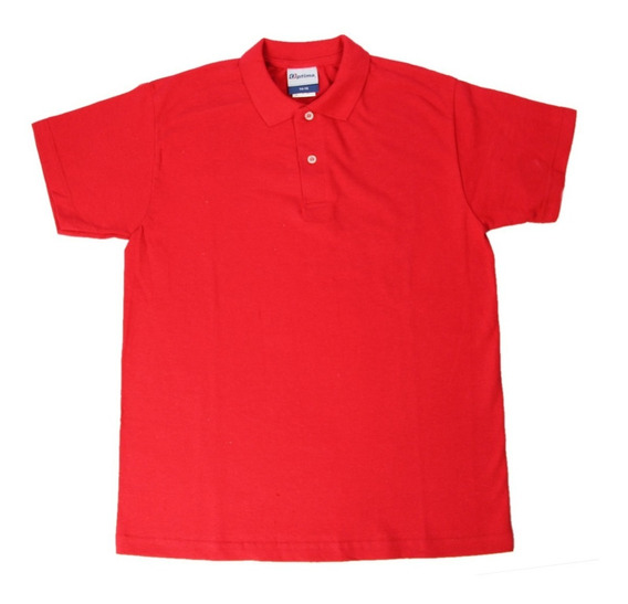Camisa Tipo Polo Color Rojas Tallas S Y M