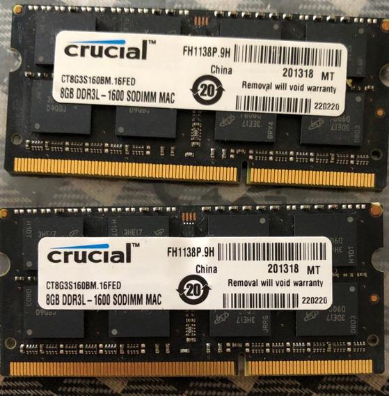 Memorias 16g (8x8) 16gb Total Macbook Pro Macmini A1286