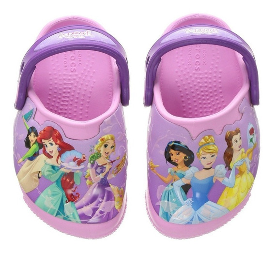 Crocs Fun Lab Lights Disney Princess K Niños Abc Deportes