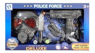 Set Policia (pistola C/sonido Y Luz A Pila) 1733932