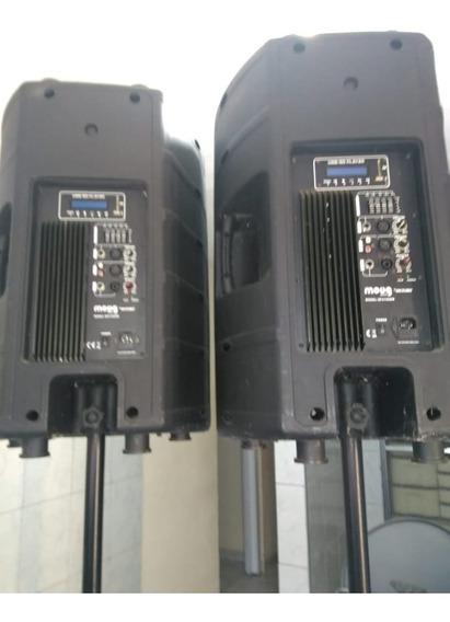 2 Caixas De Som Amplificadas Com Pedestal