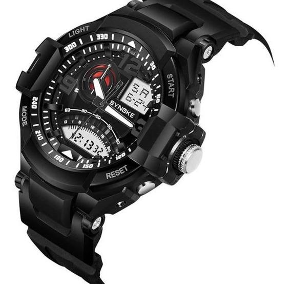 Relógio Masculino Watch Mens Dual Time Militar Prova De Água