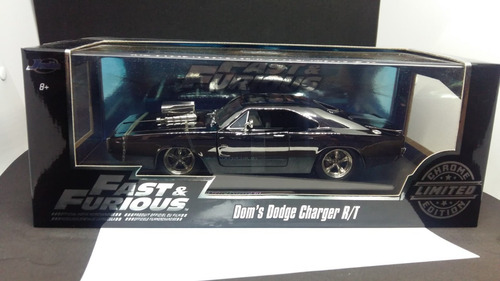 Jada Fast & Furious Dom's Dodge Charger R/t Chrome 1:24