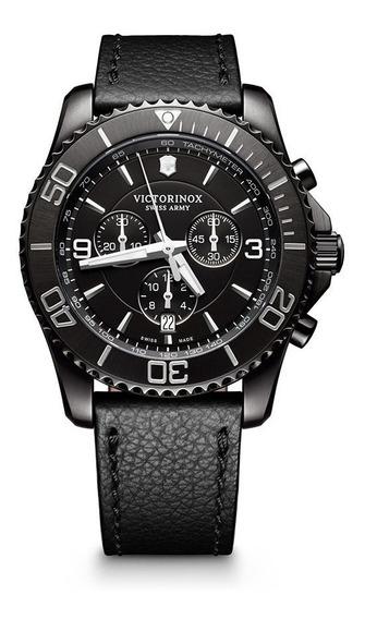 Relógio Victorinox 241786 Maverick Cronografh Preto Original
