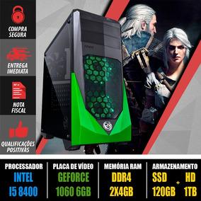 Computador Aeroluz Gamer Core I5 8400 + 1060 6gb Gddr5 + Nf