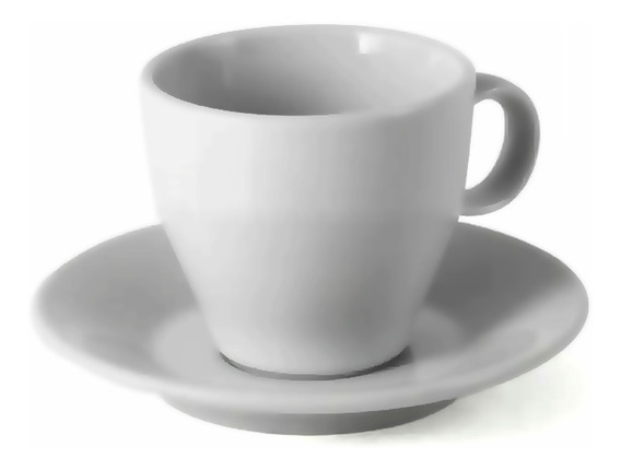 Set Taza Plato Cafe Pocillo Conica Porcelana Tsuji 1600