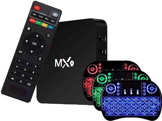 Smartv Tv Box 16gb 3gb Ram Android 9 -4k Hevc E Controle