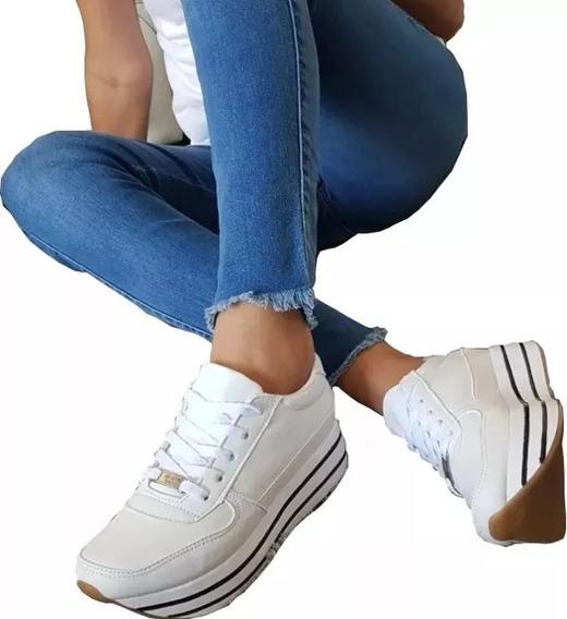 Zapatillas Para Dama Plataforma Suela Alta