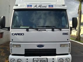 Ford Cargo 816 Ano 2013 - Único Dono E Baú De 5,50 Mts