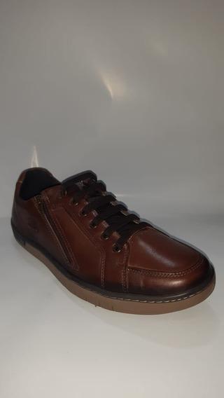 Sapatênis Pegada Anilina 517408-03 Masculino-pinhão/brown