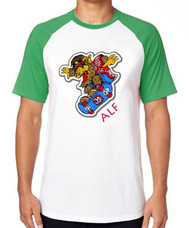 6ee7cc3447c2f Camiseta Raglan Blusa Camisa Et Alf Skate Alien Skatista