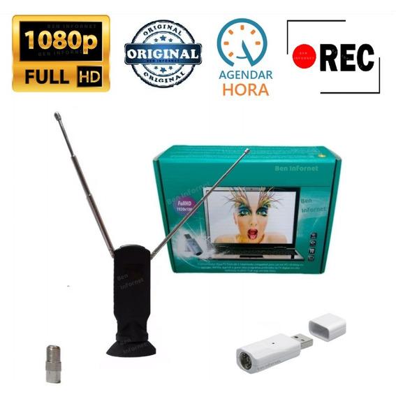 Receptor Gravador Tv Digital Uhf Usb Pc Notebook Hd 1080p