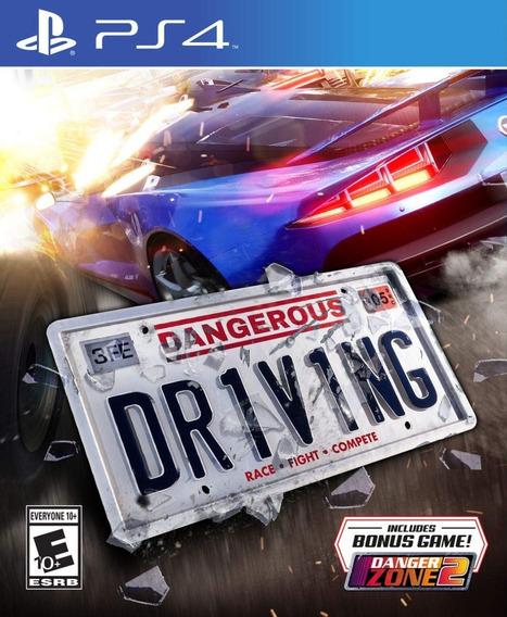 Dangerous Driving - Ps4 - Pronta Entrega! Mídia Física!