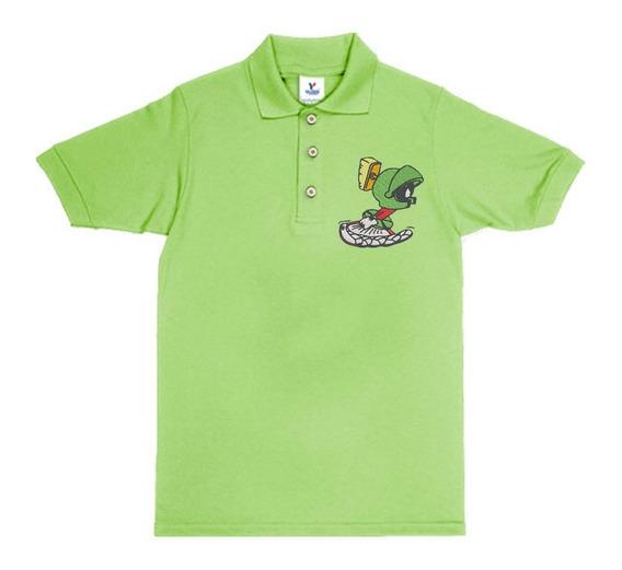 Playera Polo Looney Tunes Melvin El Marciano Marvin El Marciano Colores Bordada Opcion Personalizada