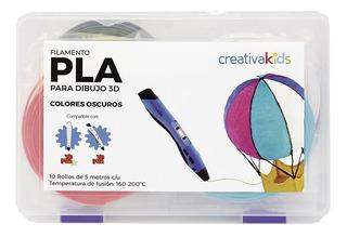 Creativakids - Pack De Filamentos 10 Colores Oscuros - Compl