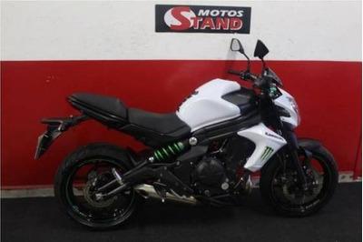 Kawasaki Er 6n Er6n Er-6n Er6 N 650 2015 Branca Branco