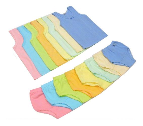 Conjunto Pantaleta Y Camiseta Colores Para Niña Talla 4 A 16