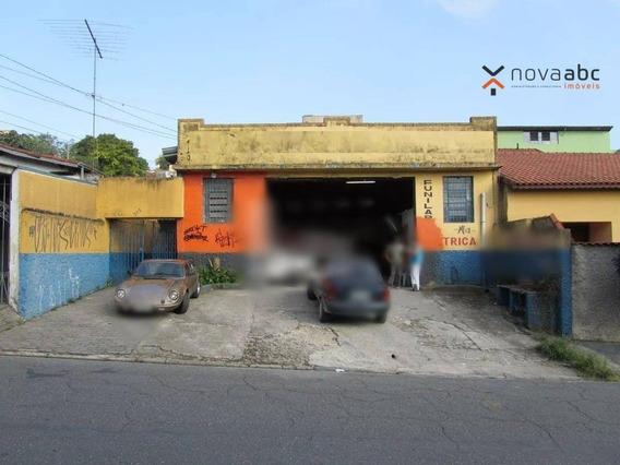 Galpão Para Alugar, 300 M² Por R$ 4.000/mês - Vila Progresso - Santo André/sp - Ga0062