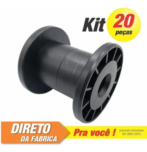Imagem 1 de 3 de Carretel Plástico Abnt Nº01 - Kit C/ 20 Peças