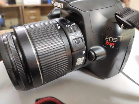 Câmera Cânon T3 Com Lente 18-55mm