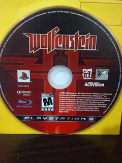 Wolfenstein Para Ps3 Solo Disco
