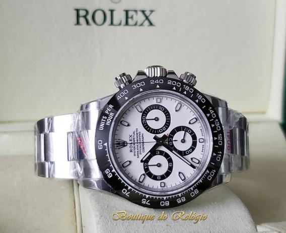 Relógio Eta - Modelo Daytona White Ceramic Noob V2 Aço 904l