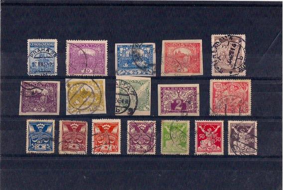 Lote De 17 Antiguos Sellos De Checoslovaquia