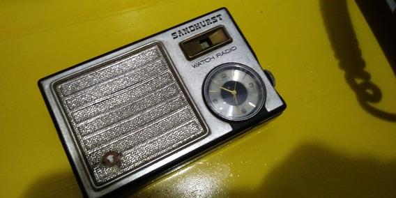 Radio De Mão Com Relogio Sandhurst Leia A Descrição