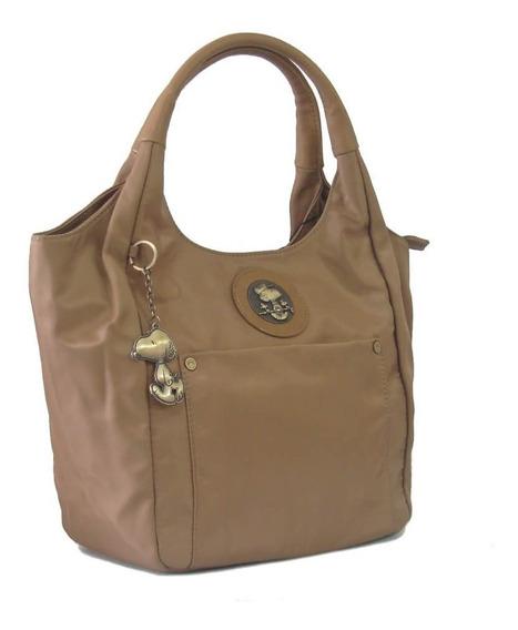 Bolsa Feminina Tote Bag Snoopy Sp6803 Coleção Be Fancy Taupe