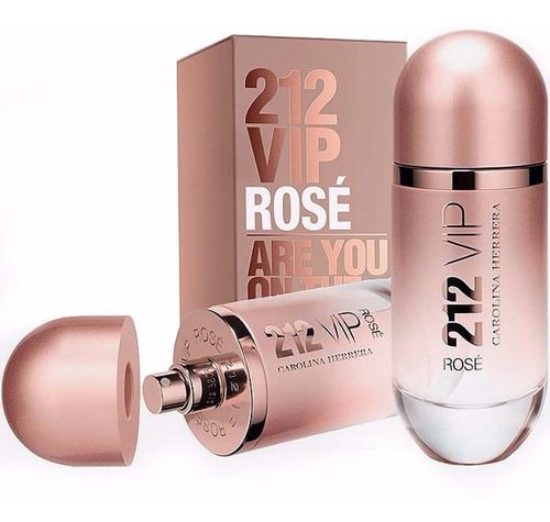 Perfume Original Mujer Carolina Herrera 212 Vip Rose 80 Ml