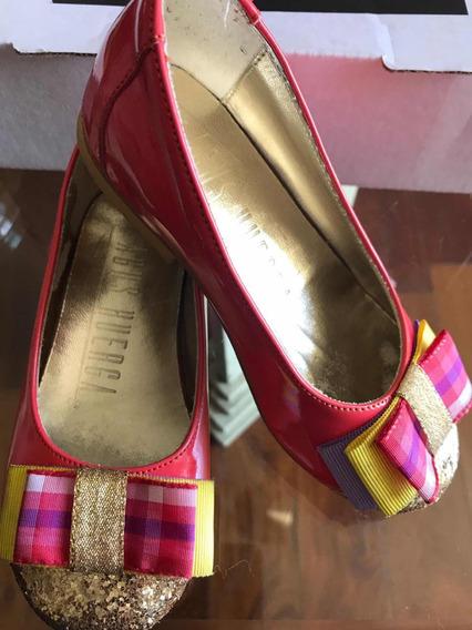 Zapatos Encharcados De Cuero Para Nenas