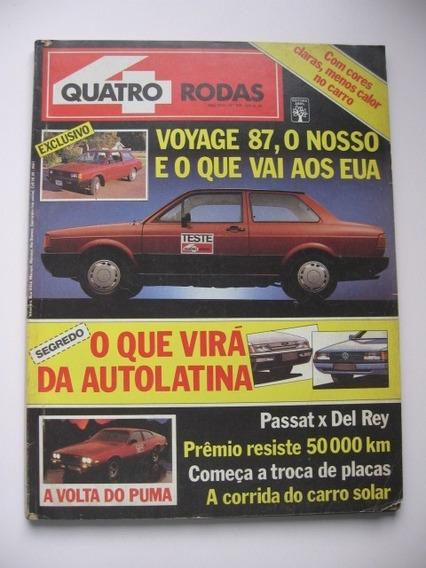 Revista Quatro Rodas - Nº 319 - Voyage 87