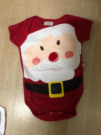 Body Papai Noel / Natal - Tam G - Usado