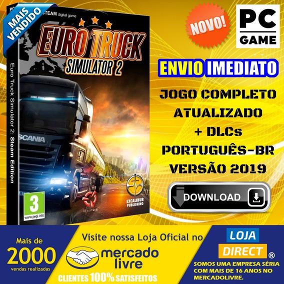 Eurotruck Simulator 2 - Pc - Versão 1.35 + 65 Dlcs - 2019