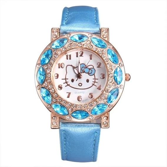 Hermoso Reloj Kitty. Reloj Juvenil. Regalo Mujer