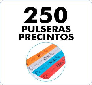 250 Pulseras / Precintos Tyvek Impresas En 48 Hrs