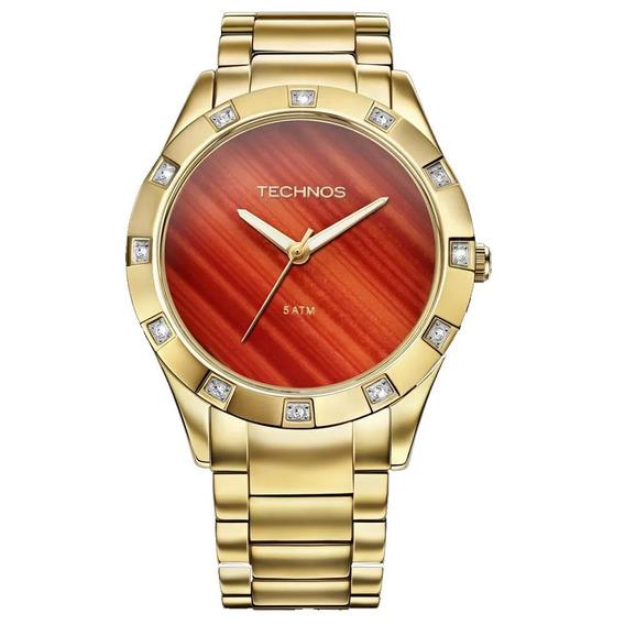 Relógio Technos Stone Collection Dourado 2033ab 4r Original