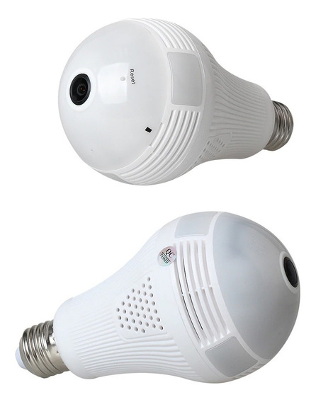 Camara Hd Wifi Lampara Espia 360° Ip Graba Micrófono Pilar