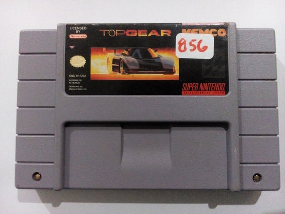 Top Gear Super Nintendo Snes Original Americano Frete $14